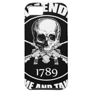La segunda enmienda viene tomarle el cráneo y AR iPhone 5 Cárcasa