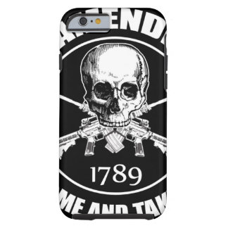 La segunda enmienda viene tomarle el cráneo y AR Funda De iPhone 6 Tough