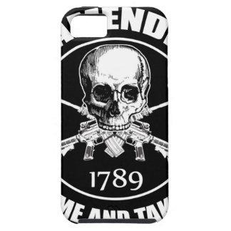 La segunda enmienda viene tomarle el cráneo y AR iPhone 5 Fundas