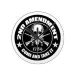 La segunda enmienda viene tomarle el cráneo y AR Relojes De Pared