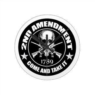 La segunda enmienda viene tomarle el cráneo y AR Reloj Redondo Mediano