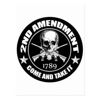 La segunda enmienda viene tomarle el cráneo y AR Tarjetas Postales