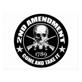 La segunda enmienda viene tomarle el cráneo y AR Postal
