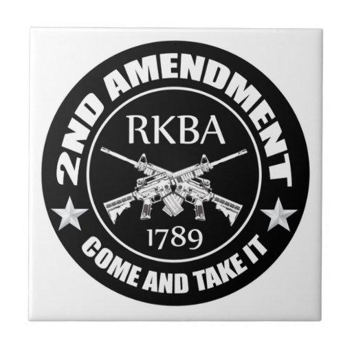 La segunda enmienda viene tomarle RKBA AR Azulejo Cuadrado Pequeño