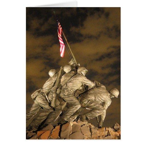 La Segunda Guerra Mundial Iwo Jima Arlington conme Tarjetón