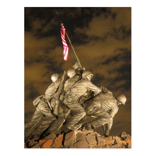 La Segunda Guerra Mundial Iwo Jima Arlington conme Tarjetas Postales