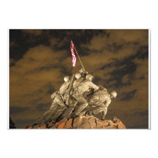"""La Segunda Guerra Mundial Iwo Jima Arlington Invitación 3.5"""" X 5"""""""