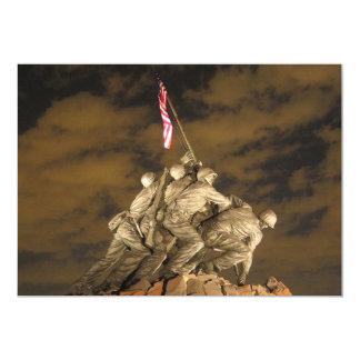 """La Segunda Guerra Mundial Iwo Jima Arlington Invitación 5"""" X 7"""""""