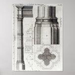 La segunda orden de la arquitectura gótica, 1741 póster