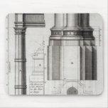 La segunda orden de la arquitectura gótica, 1741 tapete de ratón