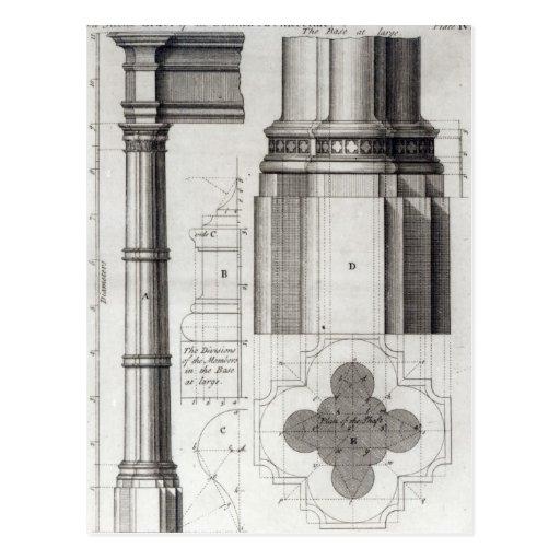 La segunda orden de la arquitectura gótica, 1741 postales