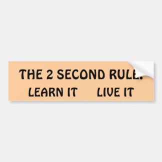 La segundo regla 2 pegatina para auto
