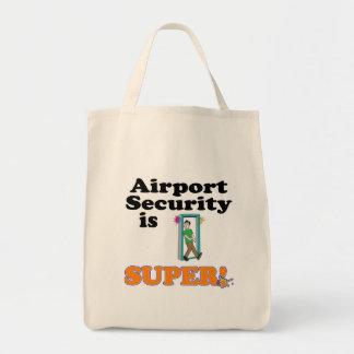 la seguridad aeroportuaria es estupenda bolsa tela para la compra