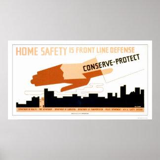 La seguridad casera es defensa WPA 1942 Posters