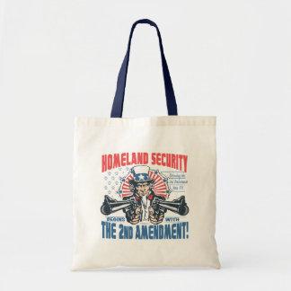 La seguridad de patria comienza con la 2da enmiend bolsas