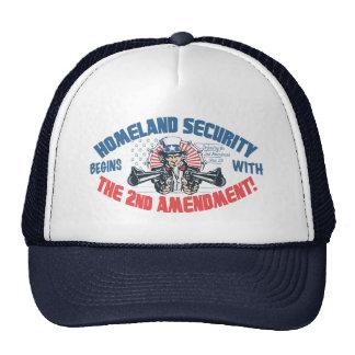 La seguridad de patria comienza con la 2da enmiend gorros