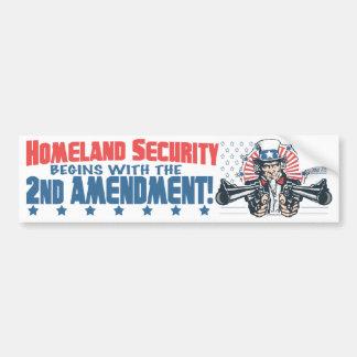 La seguridad de patria comienza con la 2da enmiend pegatina para auto