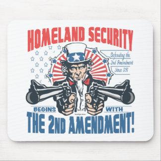 La seguridad de patria comienza con la 2da enmiend alfombrilla de raton