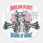 La seguridad de patria comienza con la 2da pegatina redonda
