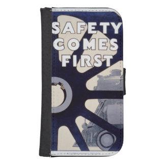 La seguridad del ferrocarril viene primer vintage funda tipo cartera para galaxy s4