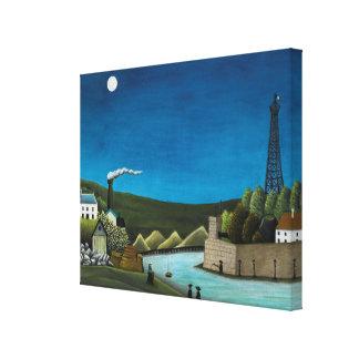 La Seine a Suresnes by Henri Rousseau, Vintage Art Canvas Print