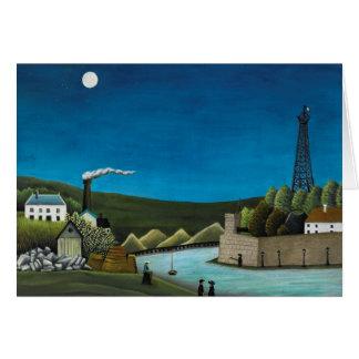 La Seine a Suresnes by Henri Rousseau, Vintage Art Card