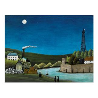 La Seine a Suresnes by Henri Rousseau, Vintage Art Postcard