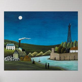La Seine a Suresnes by Henri Rousseau, Vintage Art Poster