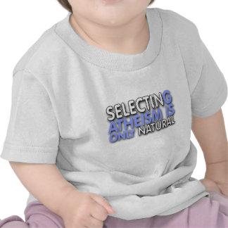 La selección del ateísmo es solamente natural camiseta