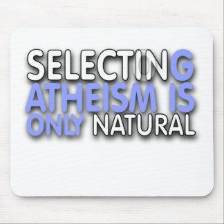 La selección del ateísmo es solamente natural tapete de ratón