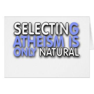 La selección del ateísmo es solamente natural felicitación