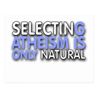 La selección del ateísmo es solamente natural postal