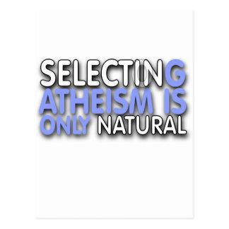 La selección del ateísmo es solamente natural tarjeta postal