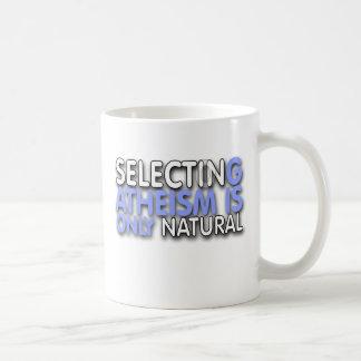 La selección del ateísmo es solamente natural tazas