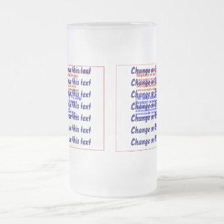 La selección del vidrio esmerilado de la taza