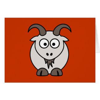 La selección gris de la cabra tarjeta de felicitación