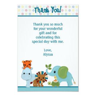 "La selva animal del desfile le agradece 3,5"" x5"" invitacion personalizada"