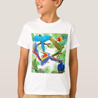La selva del Macaw embroma la camiseta