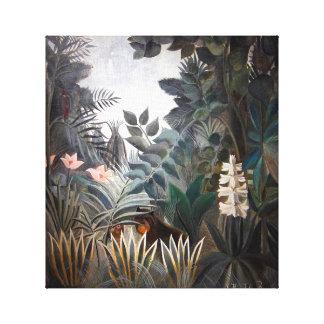 La selva ecuatorial lona envuelta para galerias