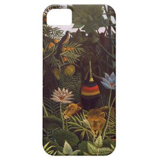 La selva ideal de Henri Rousseau florece la pintur iPhone 5 Funda
