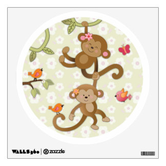 La selva Jill Monkeys al pegatina de la pared del  Vinilo Adhesivo