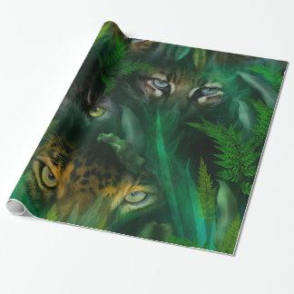 La selva observa el papel de regalo del arte