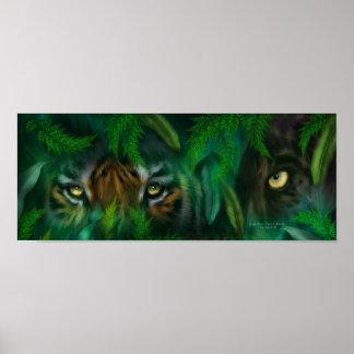 La selva observa - poster del arte del tigre y de