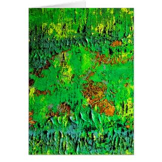 La selva pone verde el extracto, espacio en blanco tarjeta de felicitación