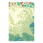 La selva tropical planta los efectos de escritorio papeleria de diseño