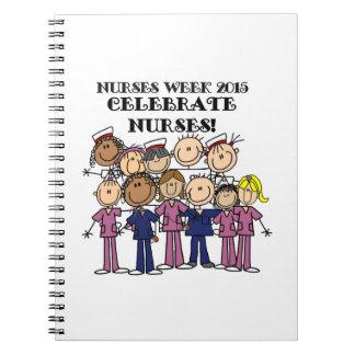 La semana 2015 de las enfermeras celebra el libros de apuntes con espiral
