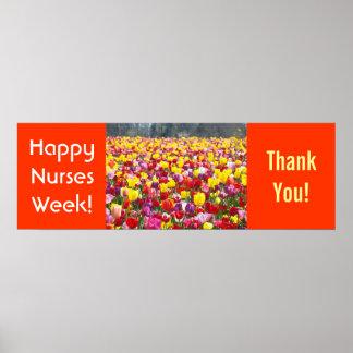 La semana del oficio de enfermera le agradece las  poster