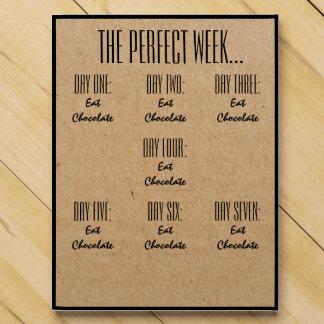 La semana perfecta come el regalo divertido V01 de