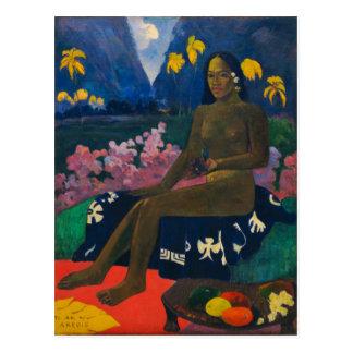 La semilla del Areoi por Gauguin Tarjetas Postales