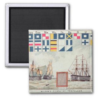 La señal de Nelson en Trafalgar Imán Cuadrado